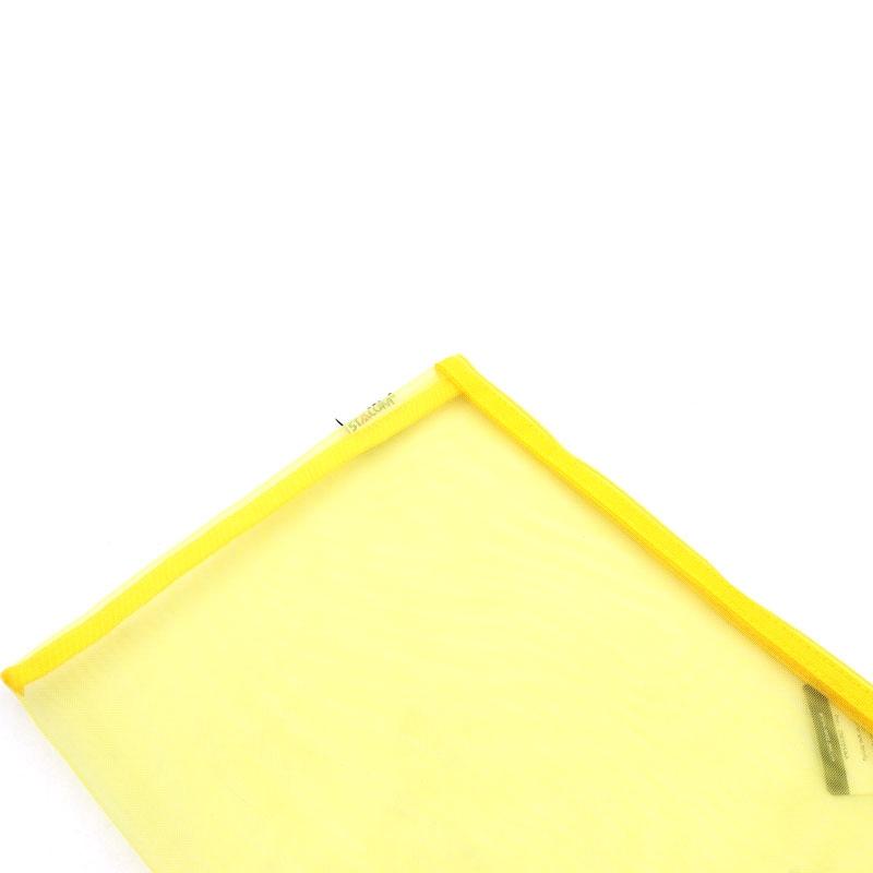 Túi Lưới Stacom Có Khóa Kéo 1 Ngăn A4 ZM101A4 - Mẫu 3 - Màu Vàng