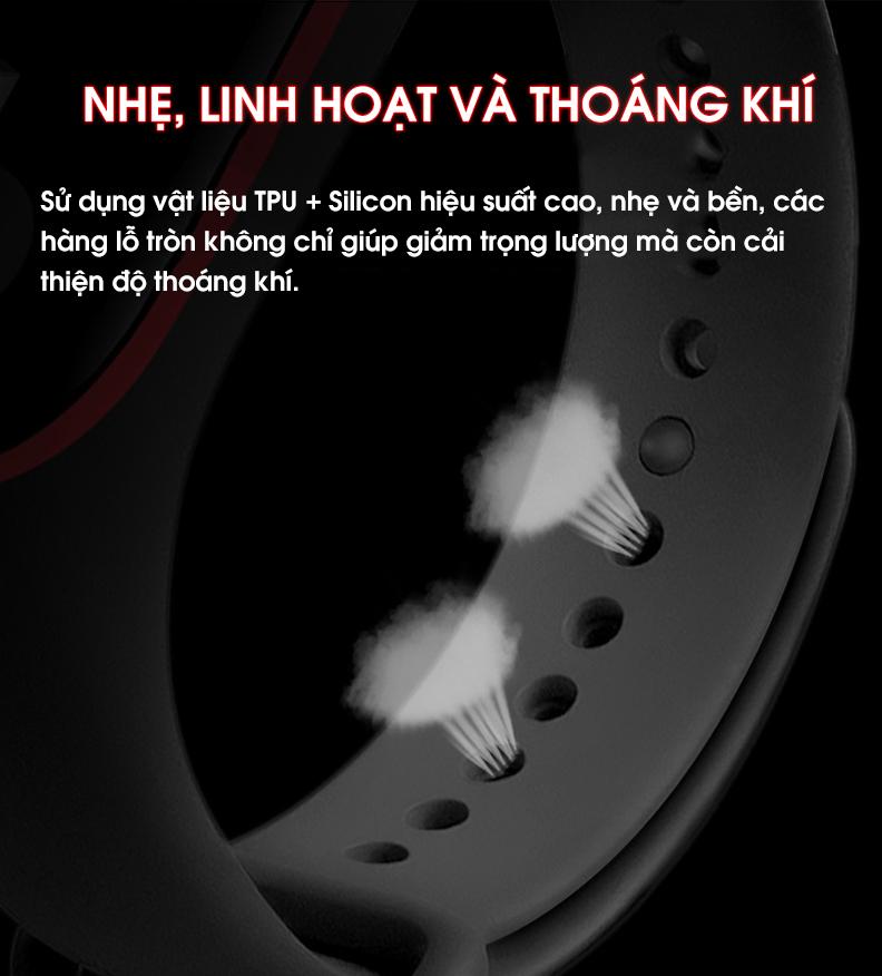 Dây Đeo Thay Thế Cho Vòng Đeo Tay Thông Minh Xiaomi Mi Band 3 Mi Band 4 - Hàng chính hãng