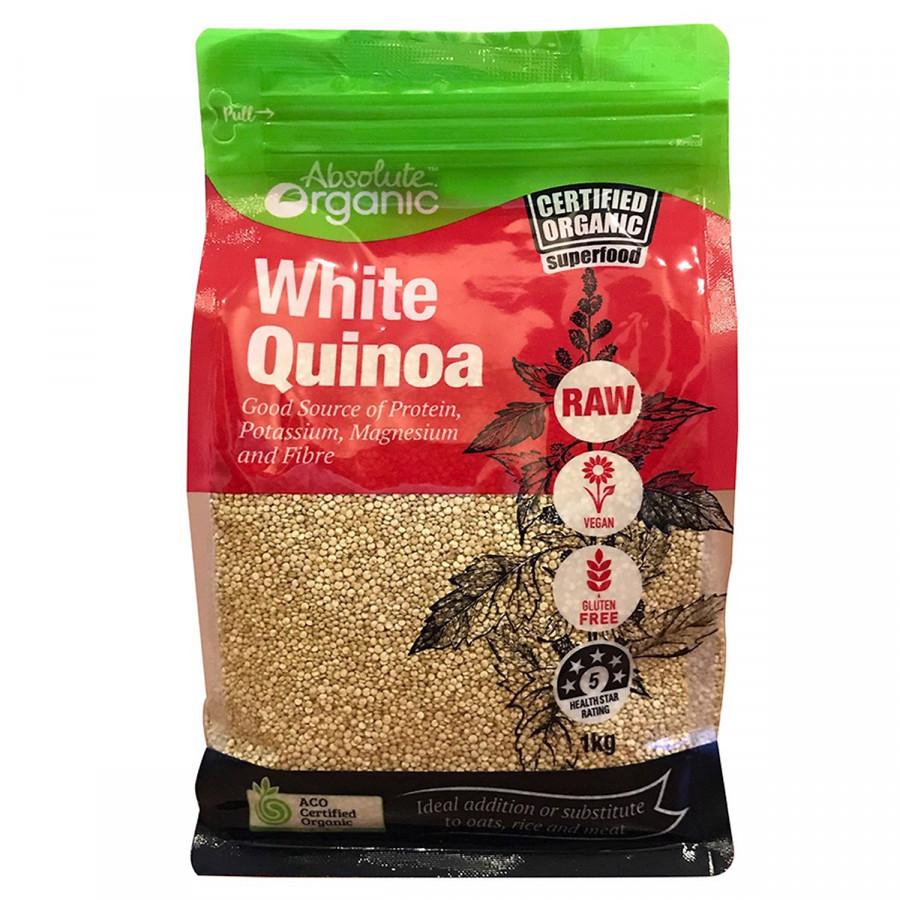 Hạt diêm mạch trắng hữu cơ Absolute Organic White Quinoa 1KG - Nhập khẩu Australia
