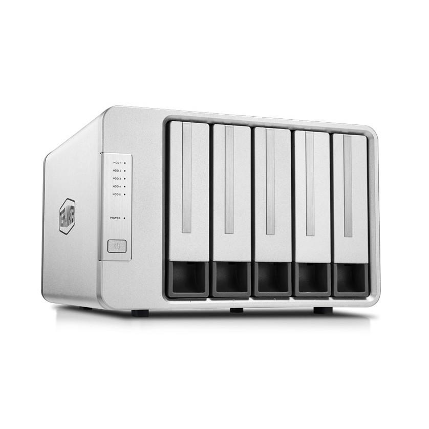 Bộ lưu trữ dữ liệu DAS TerraMaster D5-300, USB-C 3.0 SuperSpeed, 210MB/s, 5 khay ổ cứng RAID 0,1,5,10,CLONE,JBOD,Single - Hàng chính hãng