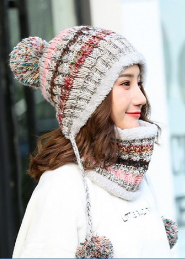 Bộ mũ len và khăn trùm cổ sọc màu A003 - Xám - 24095037 , 5828734964673 , 62_7187333 , 190000 , Bo-mu-len-va-khan-trum-co-soc-mau-A003-Xam-62_7187333 , tiki.vn , Bộ mũ len và khăn trùm cổ sọc màu A003 - Xám