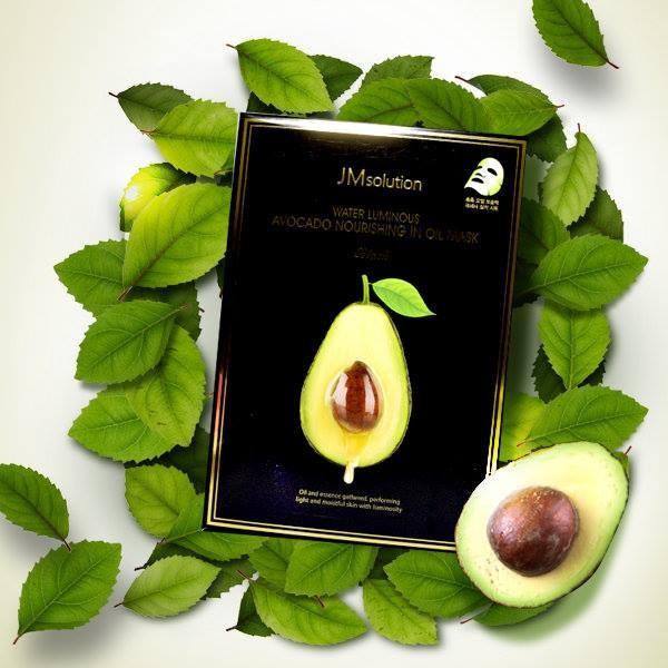 Mặt Nạ Cấp Ẩm Chiết Xuất Quả Bơ JM Solution Water Luminous Avocado Oil Ampoule Mask 30ml