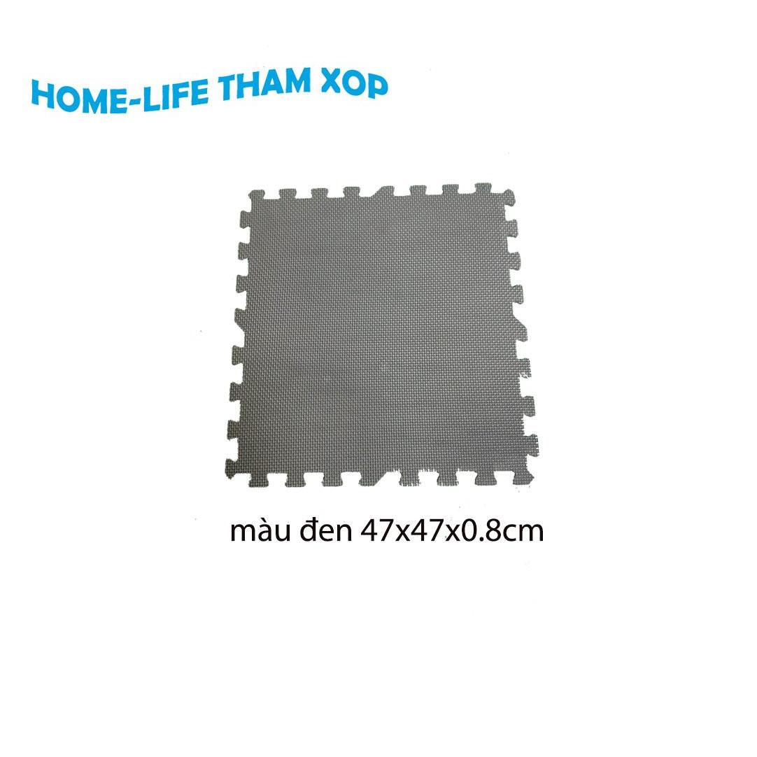 Thảm Xốp Lót Sàn Không Mùi Màu Đen kích thước (47x47x0.8cm)