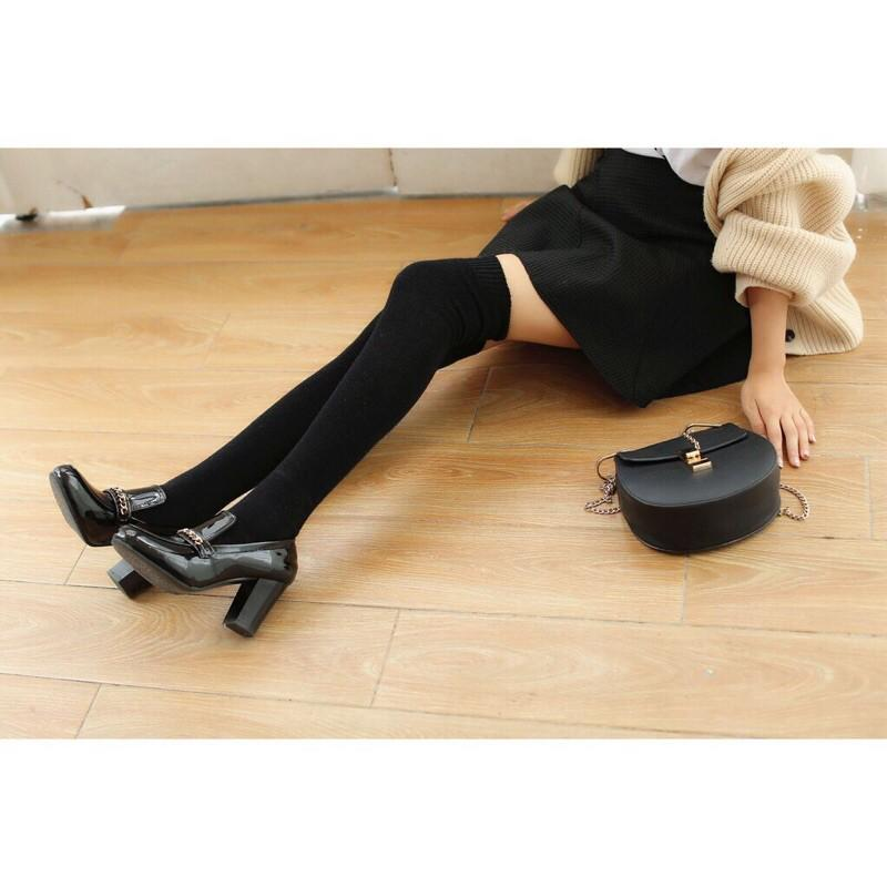 Tất Đùi Gỉa Boot tất vớ. cao cổ nữ Tất qua gối - Vớ Tất đùi trơn dày đẹp Style Hàn.Quốc TẤ