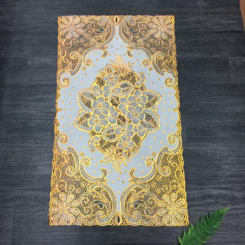 Tấm khăn trải bàn bằng nhựa họa tiết nổi không thấm nước - giao hoa văn ngẫu nhiên