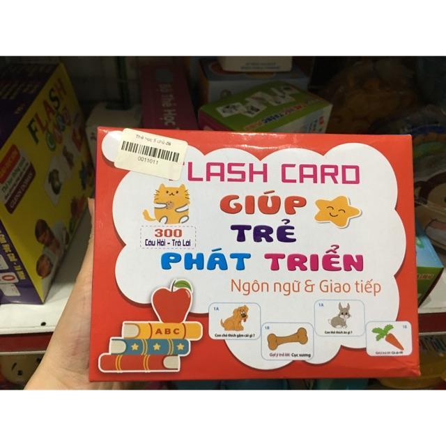Flashcards giúp trẻ phát triển ngôn ngữ và giao tiếp