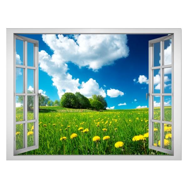 Decal dán tường cửa sổ cảnh đẹp VT0018