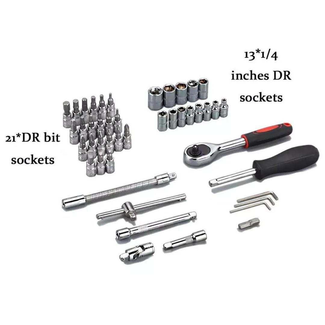 Bộ Dụng Cụ Sửa Chữa Đa Năng KIOTOOL 46 chi tiết - Bộ dụng cụ vặn bu long ốc vít sửa chữa xe máy