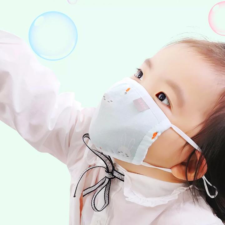 Khẩu trang vải cho bé 1-7 tuổi chất cotton thông thoáng dùng hàng ngày nhiều họa tiết đáng yêu  – M011