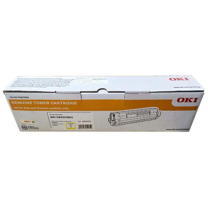 Mực vàng OKI Yellow Toner Cartridge C833  loại 10.000 trang - Hàng Chính Hãng