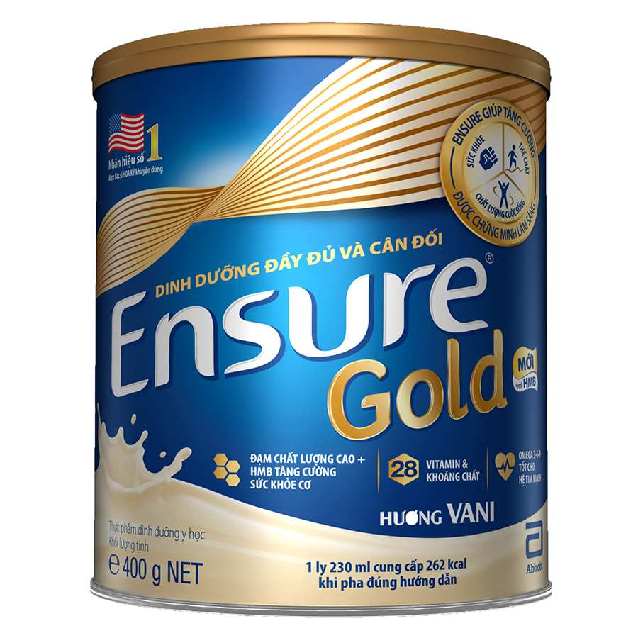Sữa Bột Abbott Ensure Gold ESS Dinh Dưỡng Đầy Đủ Và Cân Đối (400g)