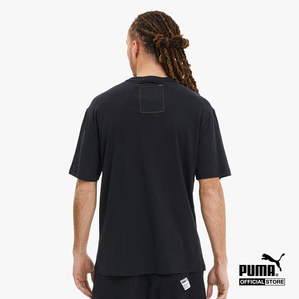 PUMA - Áo thun thể thao nam cổ tròn tay ngắn Hemp 596620-01