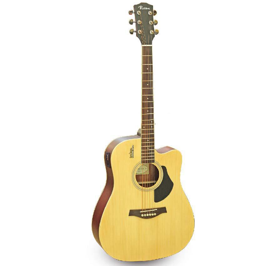 [Gắn EQ] Đàn Guitar Acoustic Rosen G11 và EQ Mings AGA MET-B12 (Đàn đã gắn sẵn EQ) - Phân Phối Chính Hãng - Kèm móng gẩy DreamMaker