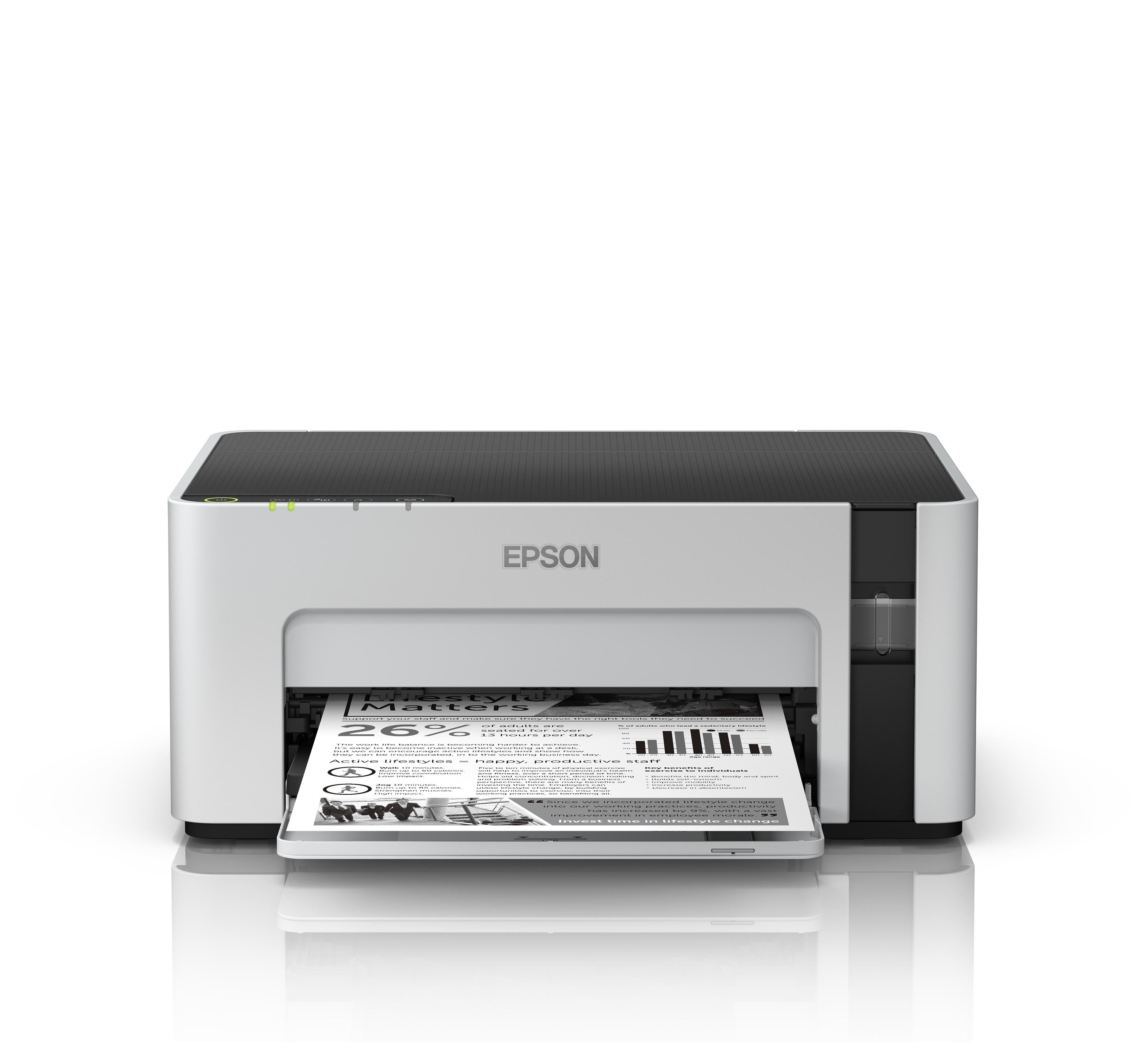 Máy in trắng đen đơn năng khổ a4 hệ thống mực phun liên tục Epson Ecotank M1120-HÀNG CHÍNH HÃNG