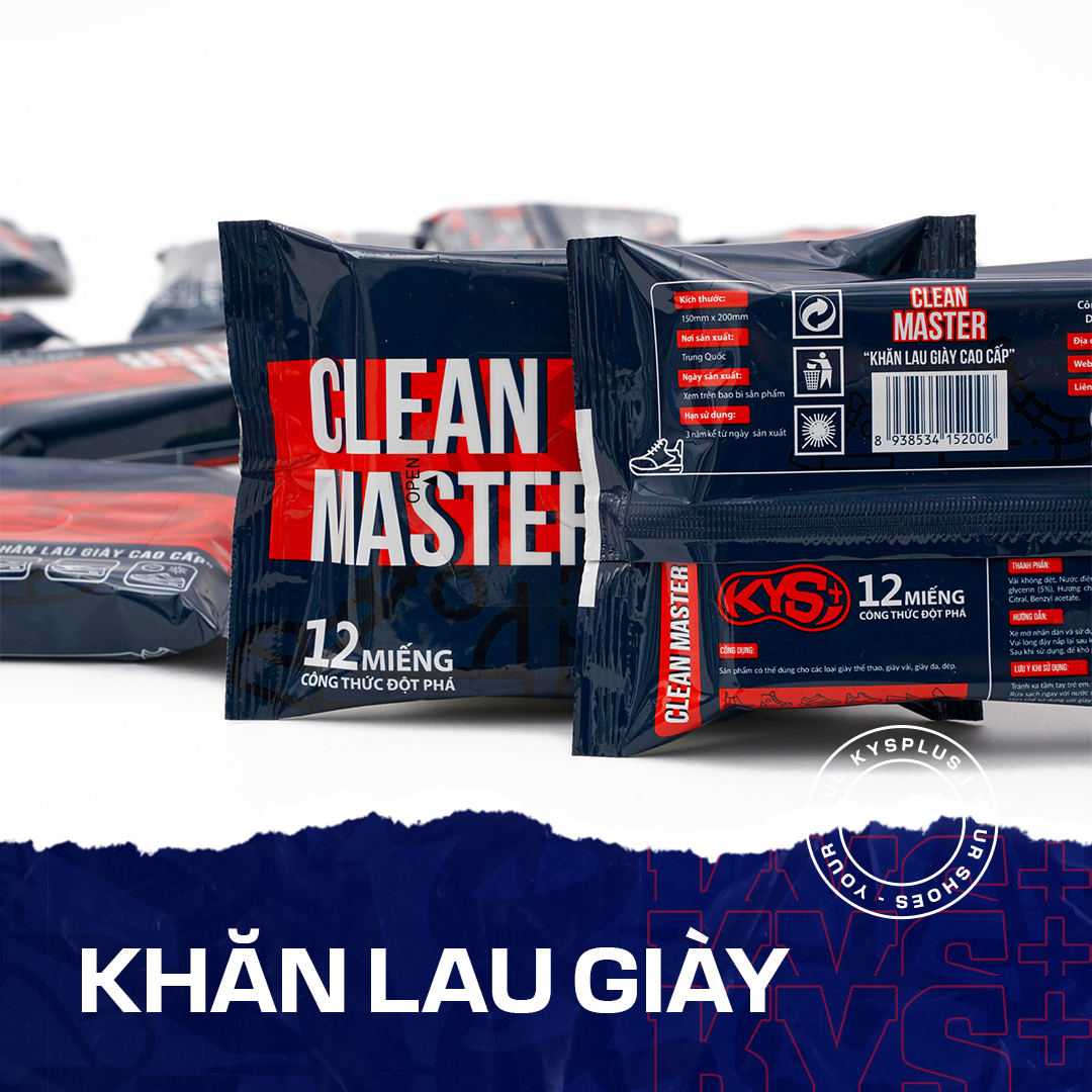 Khăn lau  giày vệ sinh giày cao cấp cho giày thể thao, sneaker, da - Clean Master