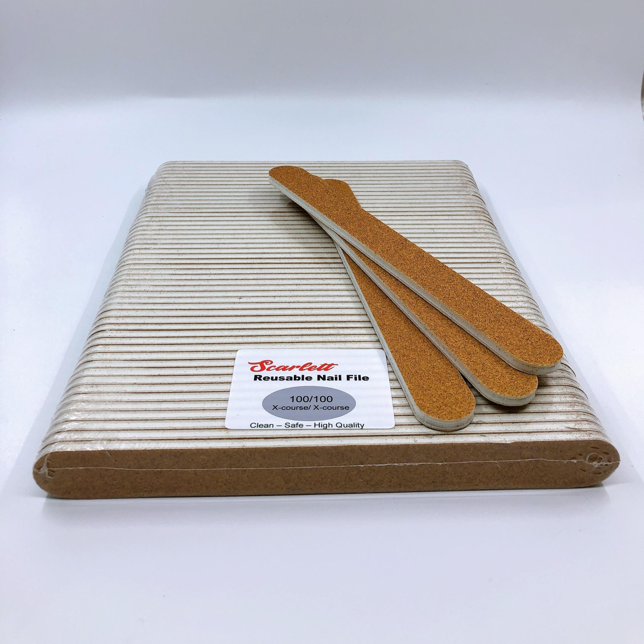 Set 10 cây dũa móng tay, dũa móng bột cao cấp Salon Pro - Độ nhám 100/100