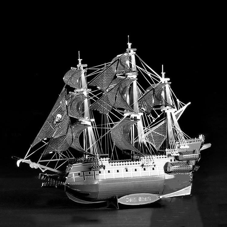 Mô hình thép 3D tự ráp tàu hải tặc Flying Dutchman