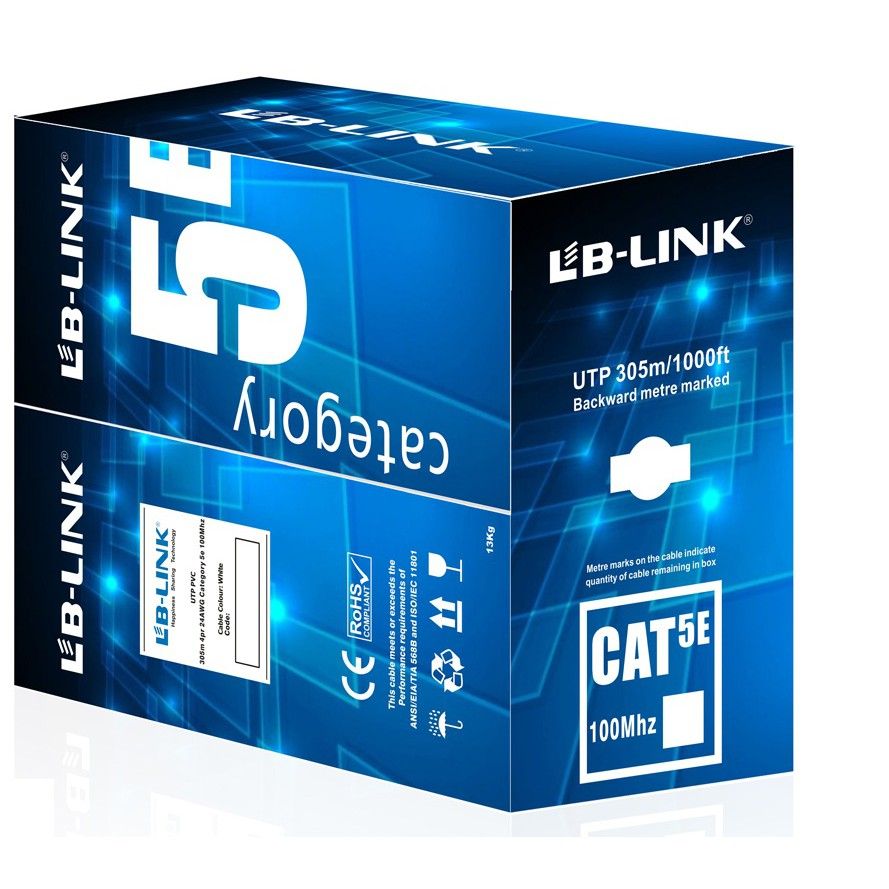 Cuộn dây cáp mạng LB-LINK Cat5e UTP Copper 305m - Chính hãng