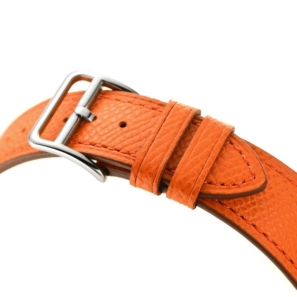 Dây đeo thay thế cho Apple Watch kiểu dáng da cao cấp_38mm _ Cam