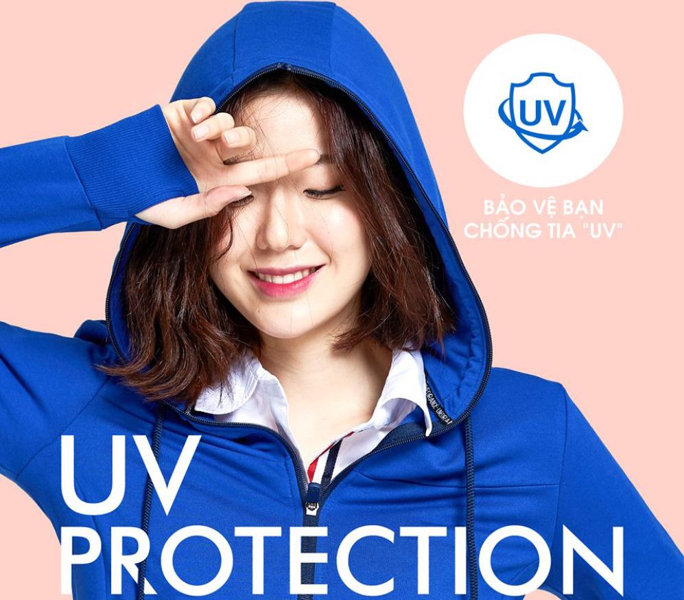 Áo khoác chống nắng chống tia UV dày dặn Hàn Quốc -  Xanh Đậm