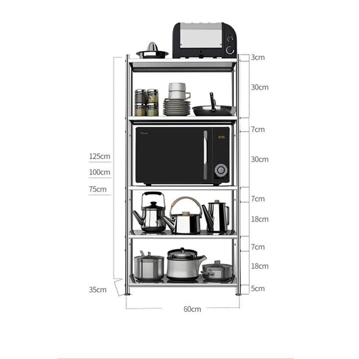 Kệ nhà bếp inox 4 tầng RE0143