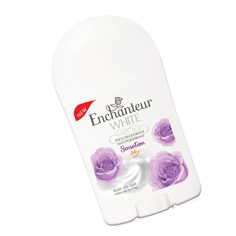 Bộ 3 Sáp khử mùi trắng da Enchanteur Sensation 40g*3