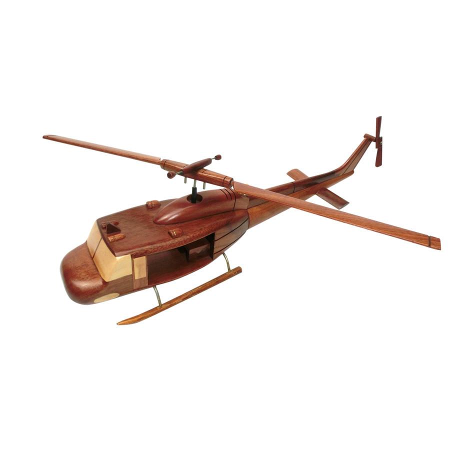 Mô hình máy bay trực thăng gỗ UH - 1