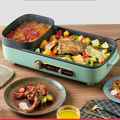 Bếp lẩu nướng 2 ngăn tiện lợi DT350 dành cho gia đình.