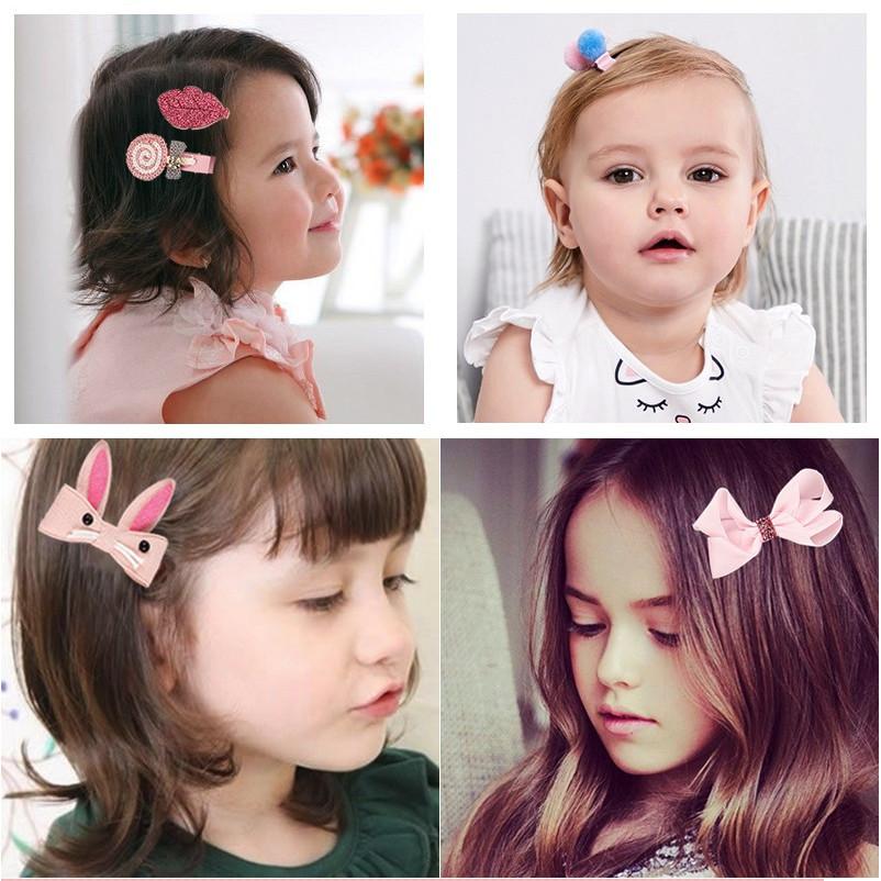 Kẹp tóc cho bé 18 chi tiết hàn quốc (kèm hộp đựng cute)