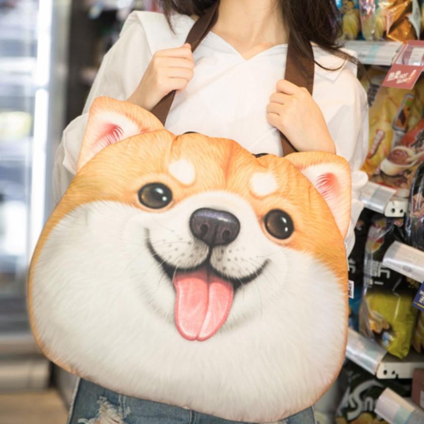 Túi Đeo Chó 3D ShiBa Vàng