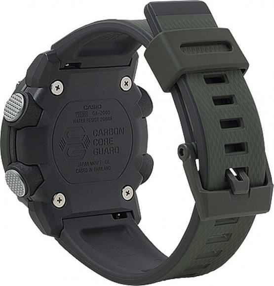 Đồng hồ nam Casio dây nhựa G-SHOCK GA-2000-3A