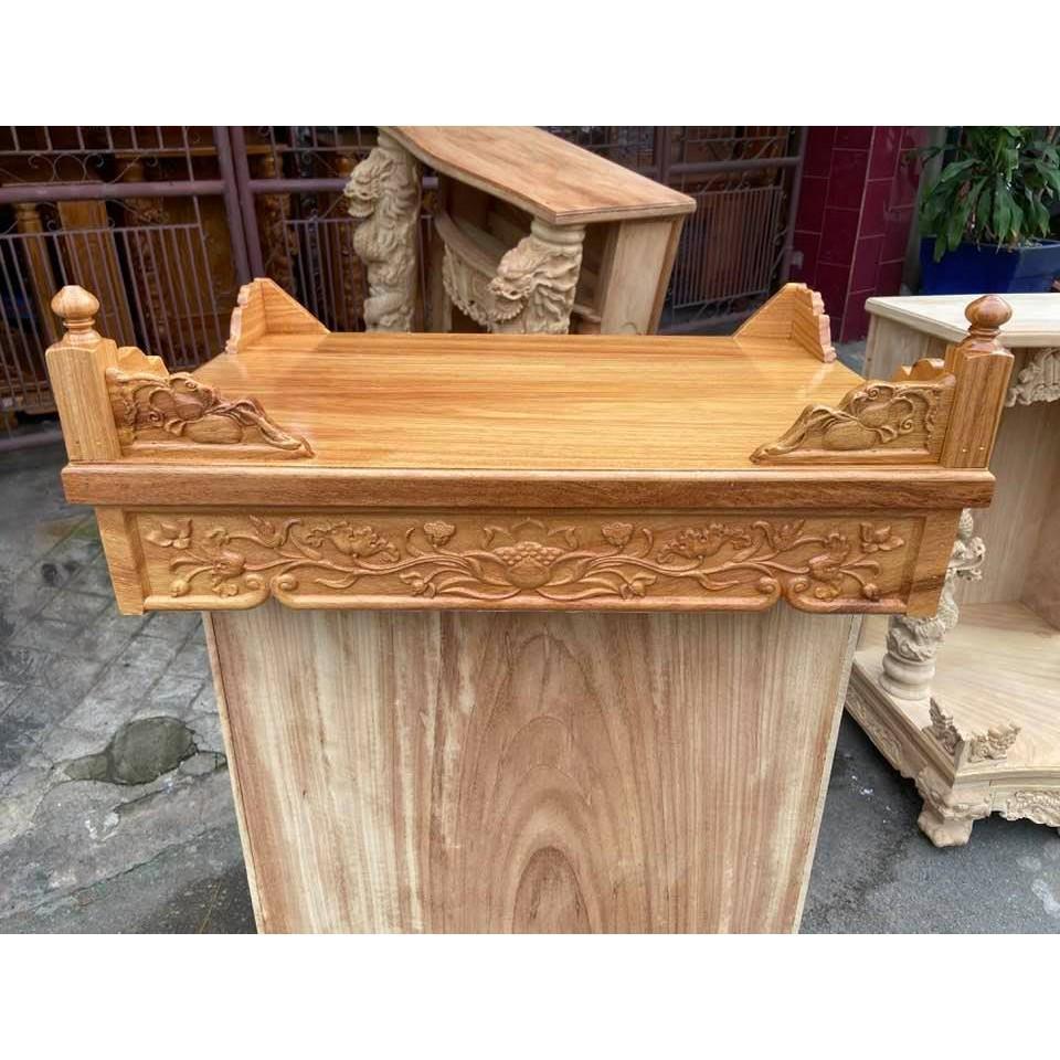 Bàn thờ treo tường Hoa Sen 60cm TTG60S