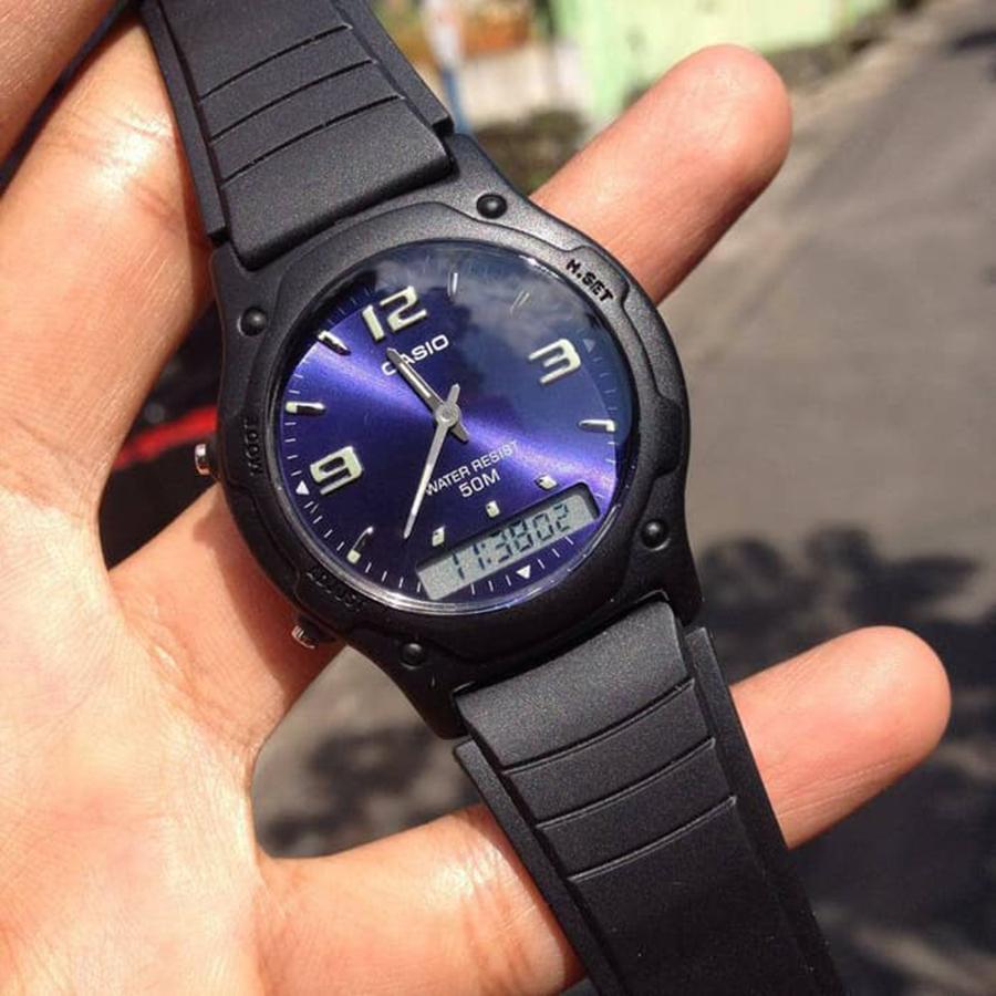Đồng hồ unisex dây nhựa Casio AW-49HE-2AVDF
