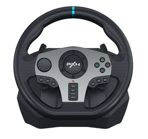 Bộ Full Vô Lăng Chơi Game PXN V9 Gaming Racing Wheel - Hàng Chính Hãng