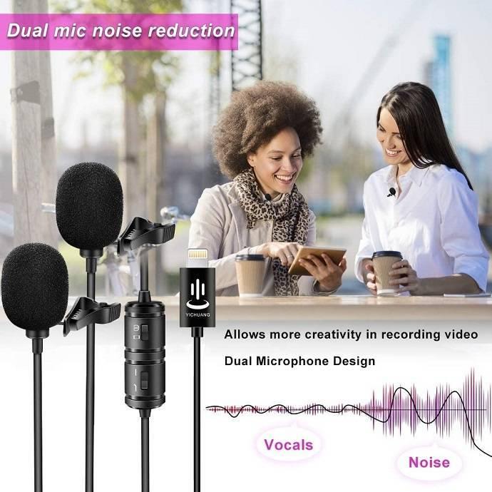 Mic thu âm đôi cho điện thoại iphone cổng Lightning VM60 hàng chính hãng