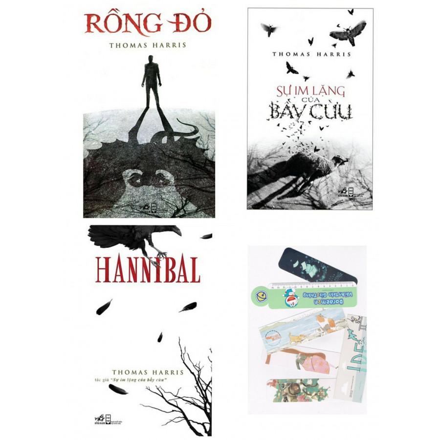 Combo Sự im lặng của bầy cừu + Rồng đỏ + Hannibal -Tặng kèm bookmark PĐ