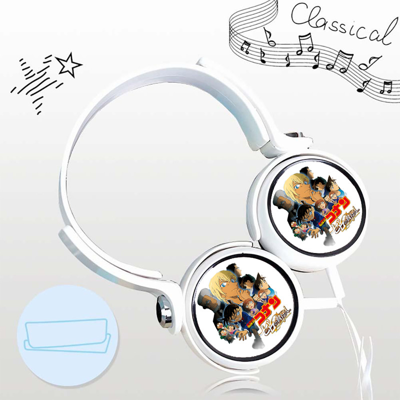 Tai nghe CONAN THÁM TỬ LỪNG DANH thiết kế thông minh cá tính cắm dây có mic anime chibi