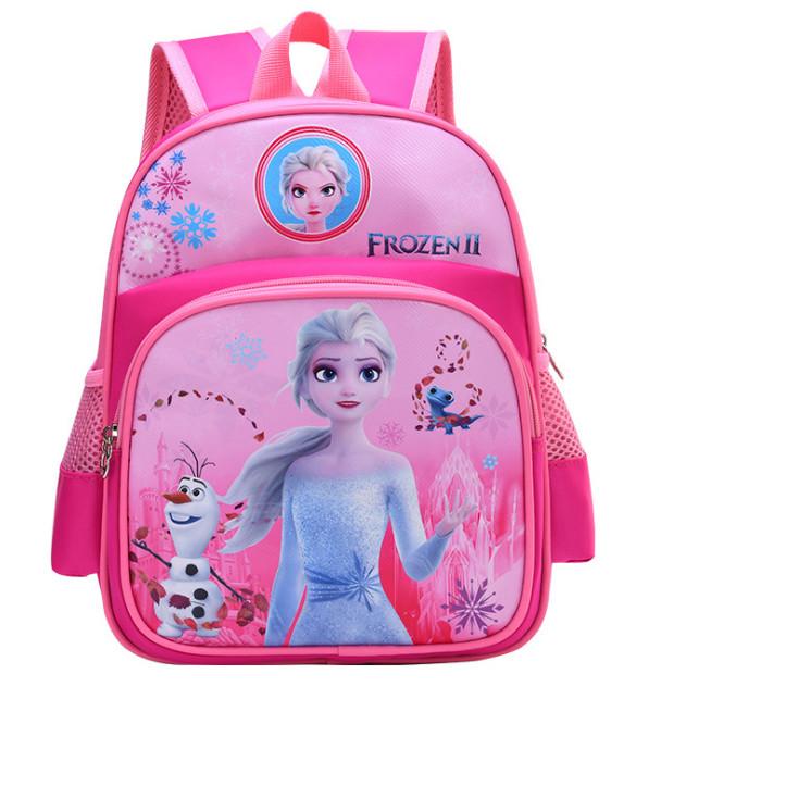 Balo bé gái in hình Công chúa Elsa Hồng cho bé mẫu giáo 1-5 tuổi