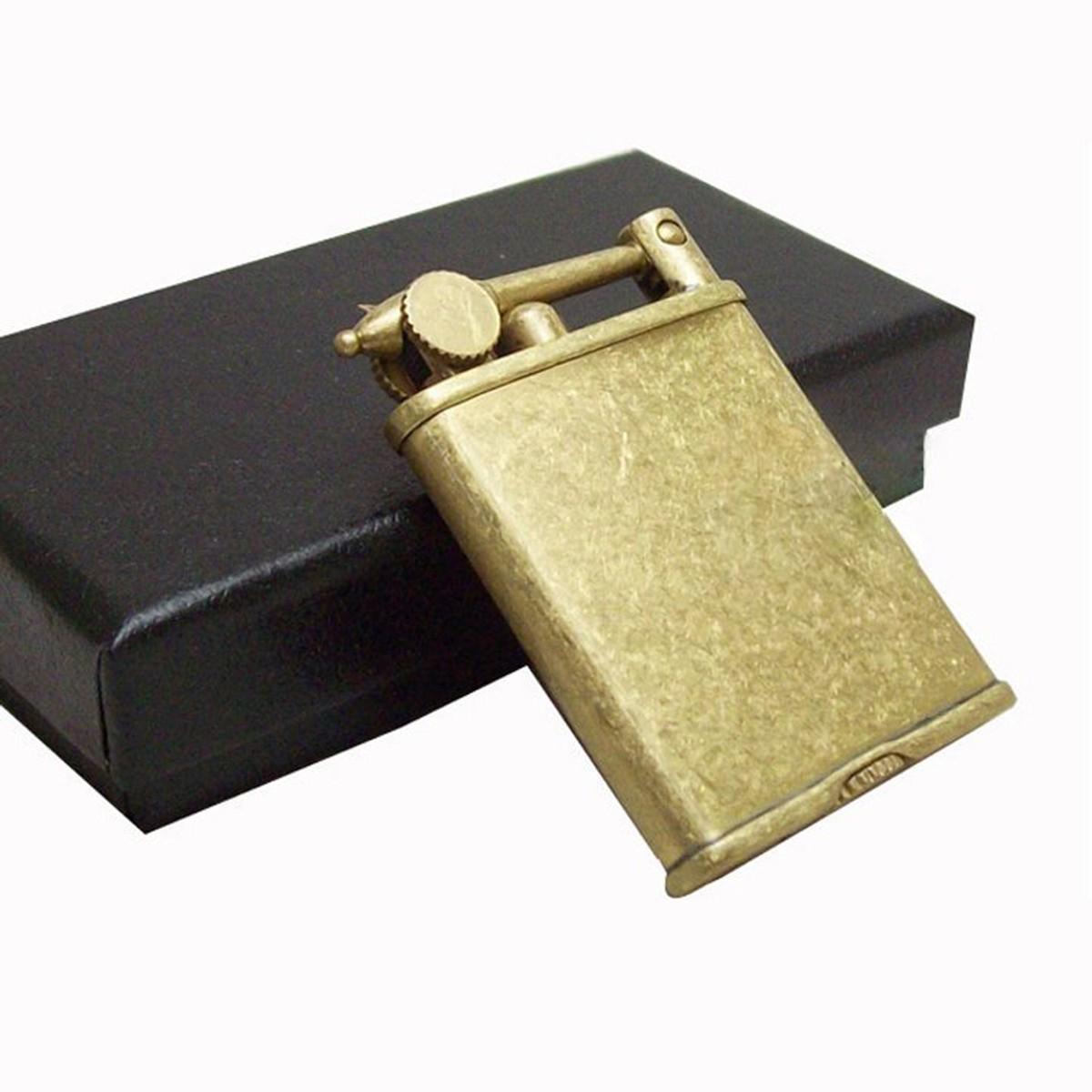 Combo Hộp Quẹt Bật Lửa Xăng Đá Cao Cấp XD-06 Làm Bằng Đồng Nguyên Chất + Tặng Bộ Bấc Đá Chuyên Dụng Cho Bật Lửa