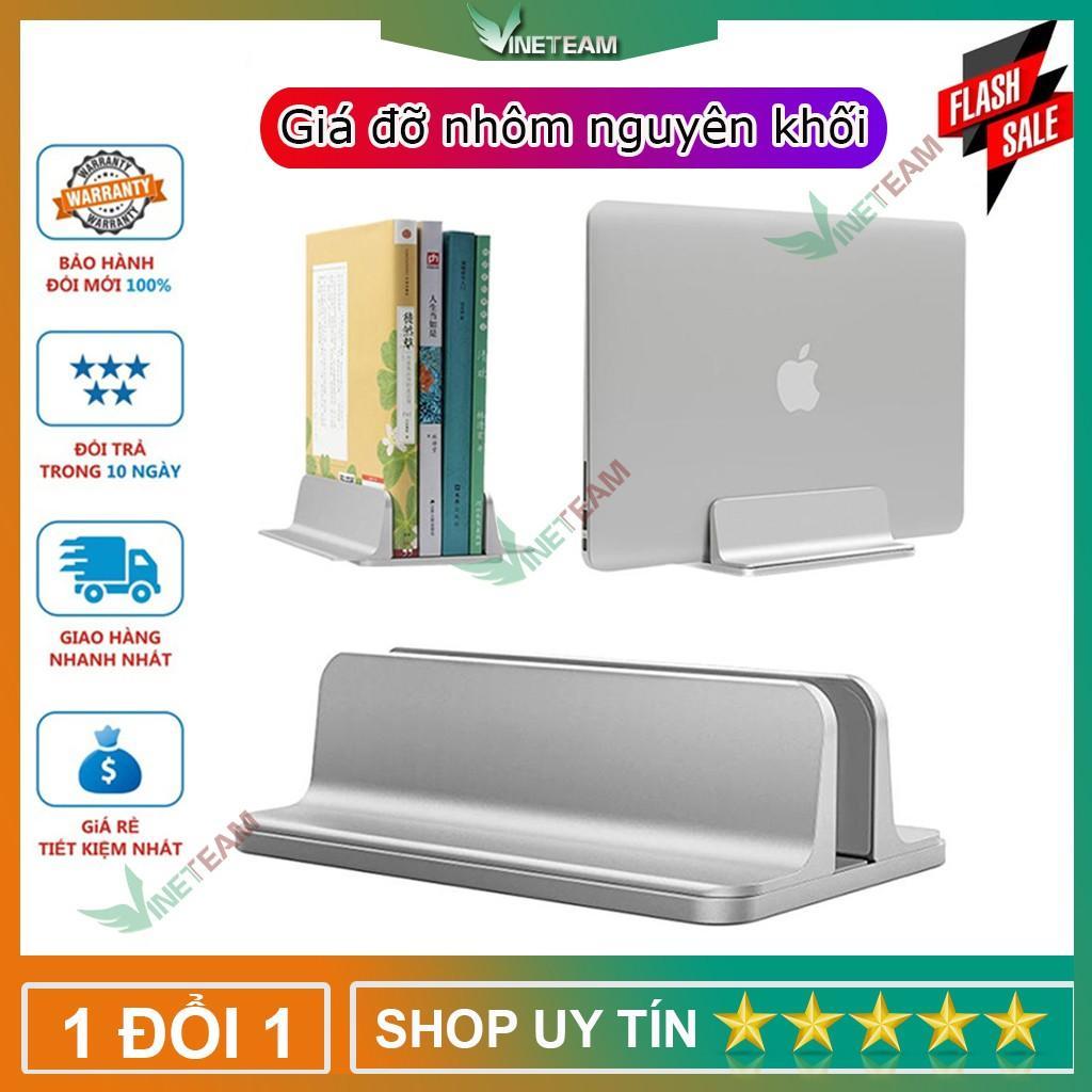 Giá đỡ đế kẹp Laptop Macbook máy tính bảng Ipad Surface dạng đứng bằng nhôm nguyên khối