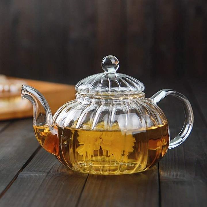 Ấm pha trà thủy tinh có lọc 16b