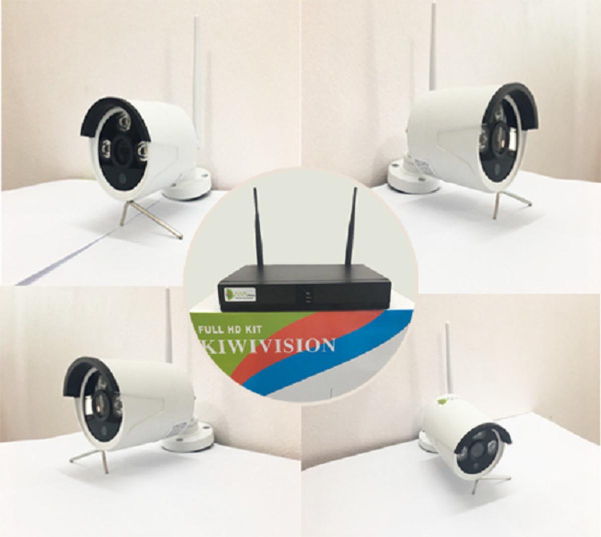 Bộ Camera Wifi NVR4200 Kit 4 mắt1080P_ tặng kèm ổ cứng 500G - Hàng chính hãng