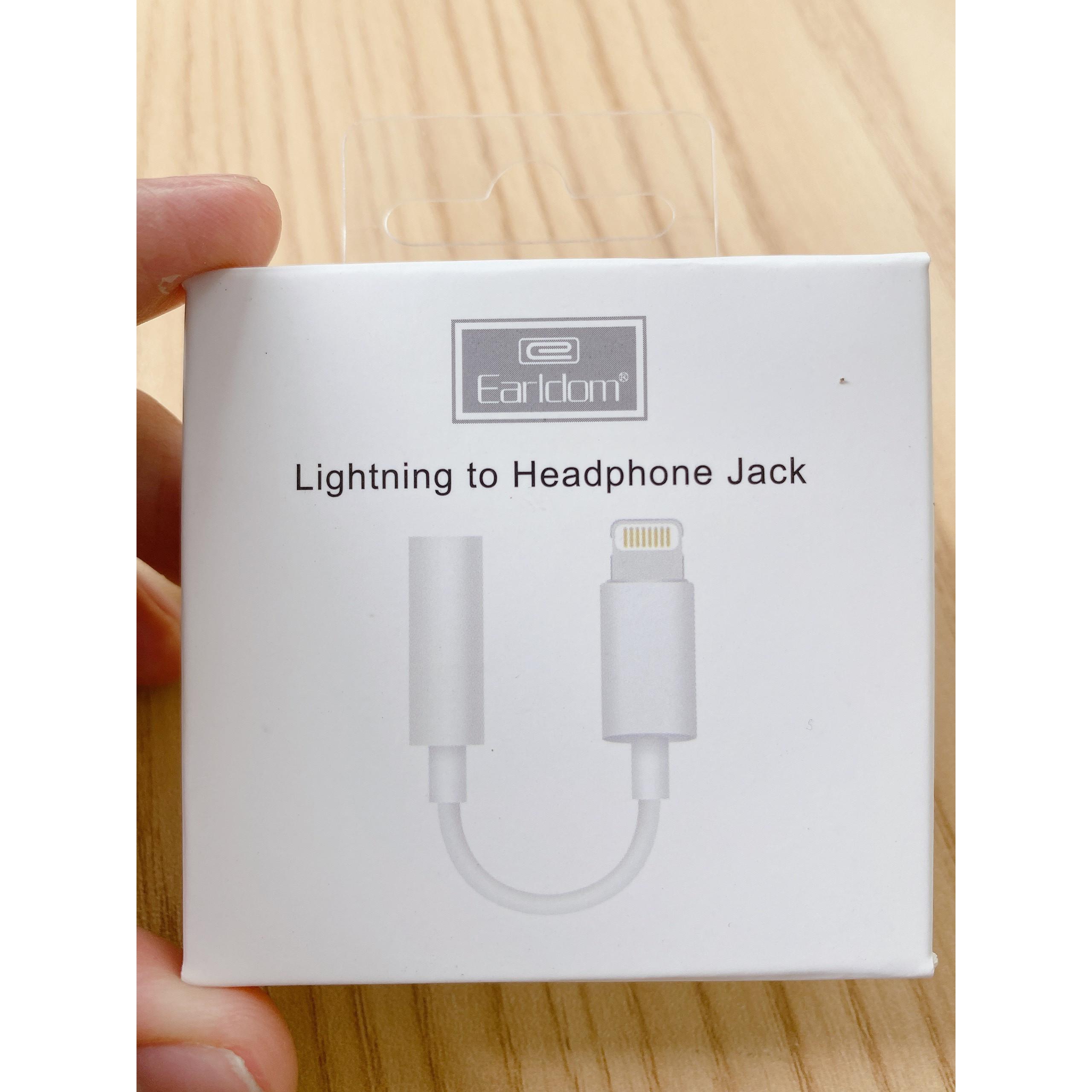 Jack Chuyển Lightning Sang 3.5mm Earldom ET-OT49 ( Kết Nối Bluetooth) hàng chính hãng
