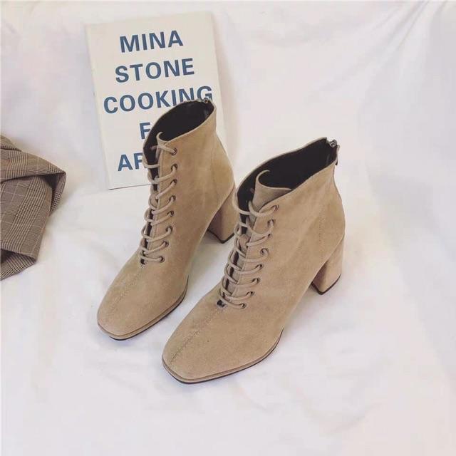 Giày nữ/ Boots nữ buộc dây trẻ trung