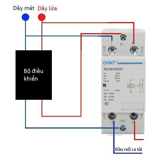 Khởi động từ 1 pha công suất lớn CHINT NCH8-63A/220V (Trắng)