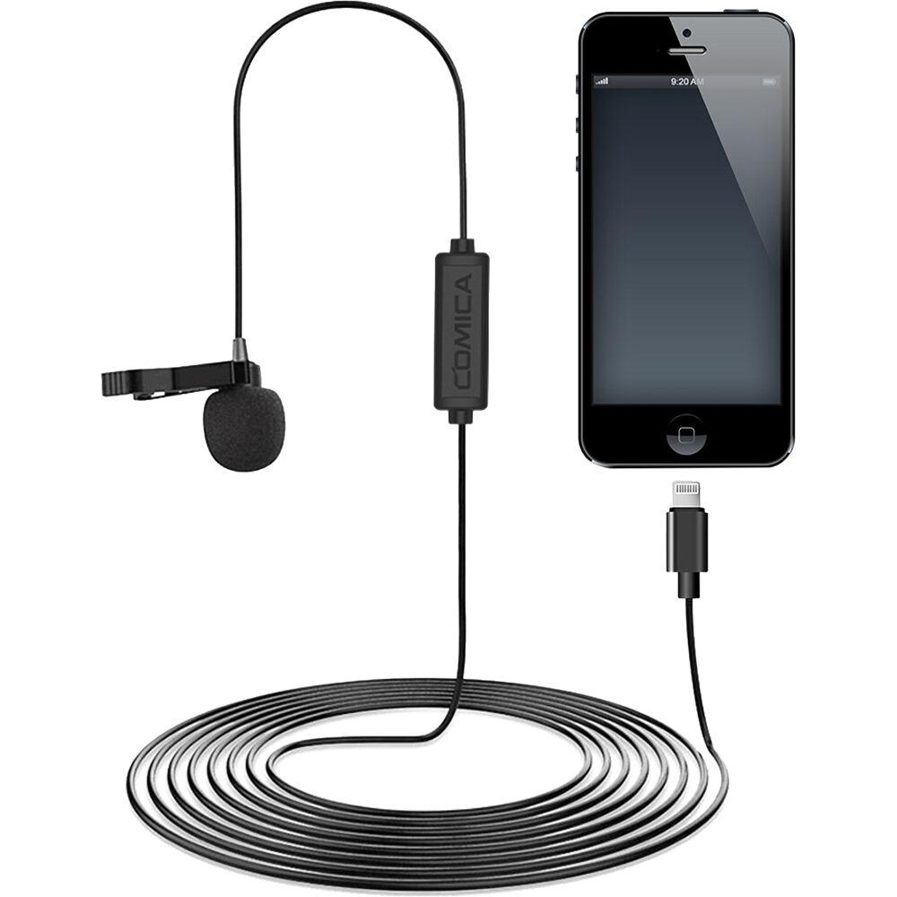 Micro Cài Áo Có Dây Cổng Lightning Chuẩn MFi Comica CVM-V01SP, Thu Âm Cho Thiết Bị IOS (IPhone, IPad, IPod) (6m) - Hàng chính hãng