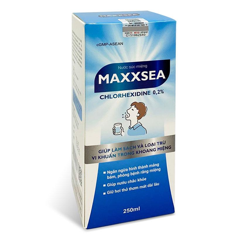 Bộ 3 Nước súc miệng Maxxsea giúp làm sạch khoang miệng, ngăn ngừa mảng bám, lọ 250ml