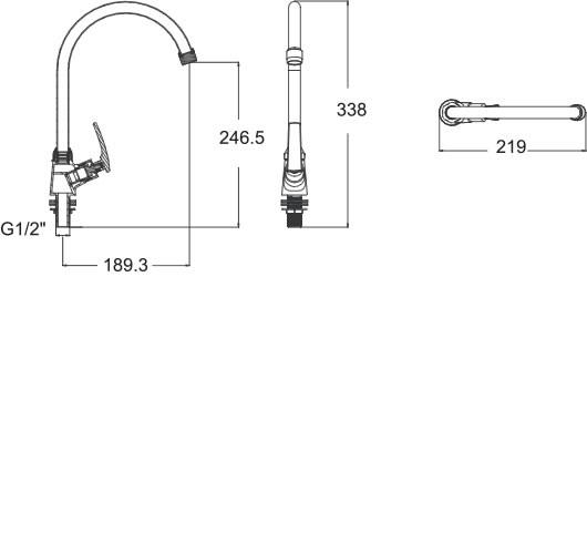 Vòi bếp lạnh cao cổ  American Standard A-7054J