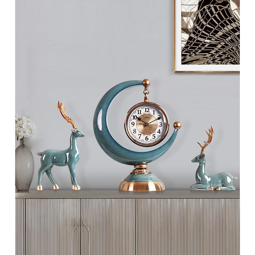 Đồng hồ trang trí đển bàn COUPLE ALLEY CERAMIC