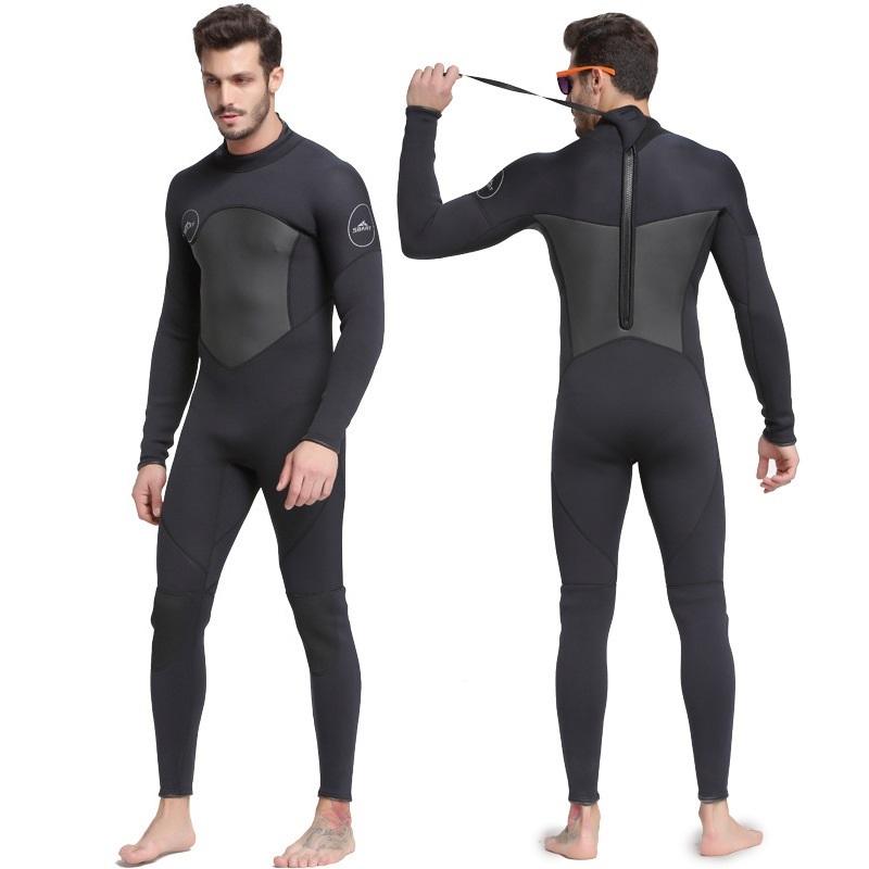 Quần áo lặn biển 3mm NAM size L - BLACK 1070 giữ ấm, bộ đồ lặn thoáng khí, chống thầm nước - POKI